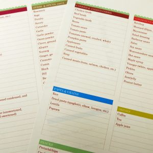 Free Printable Pantry Master List