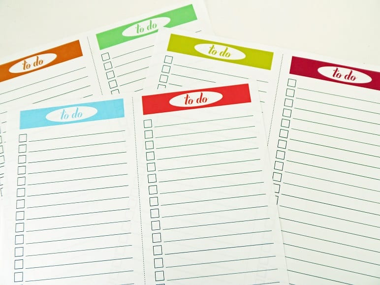 Printable To-Do List - 2 Per Page