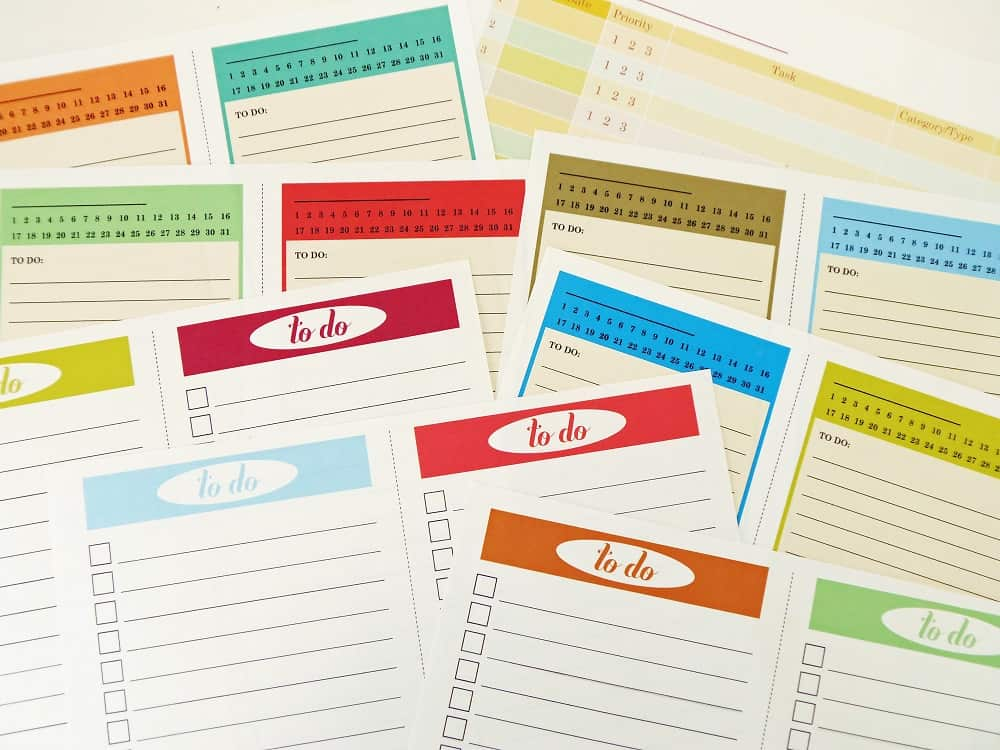 Printable To-Do Lists