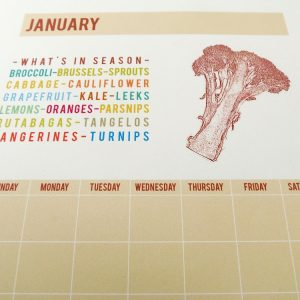 Printable What's in Season Calendar