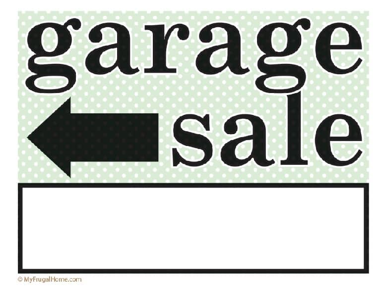 photograph regarding Printable Sale Sign called Printable Backyard Sale and Garage Sale Signs or symptoms