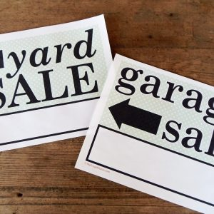 Printable Yard Sale and Garage Sale Signs