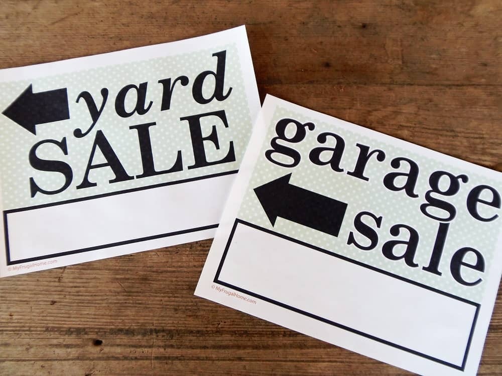 photo regarding Printable Yard Signs named Printable Backyard Sale and Garage Sale Signs or symptoms