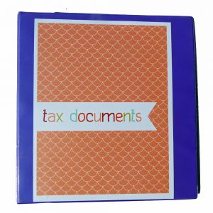 Printable Tax Binder