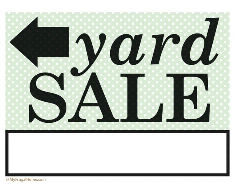 image relating to Printable Yard Signs identified as Printable Backyard Sale and Garage Sale Signs or symptoms