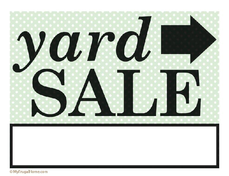 image regarding For Sale Sign Printable referred to as Printable Backyard Sale and Garage Sale Signs or symptoms