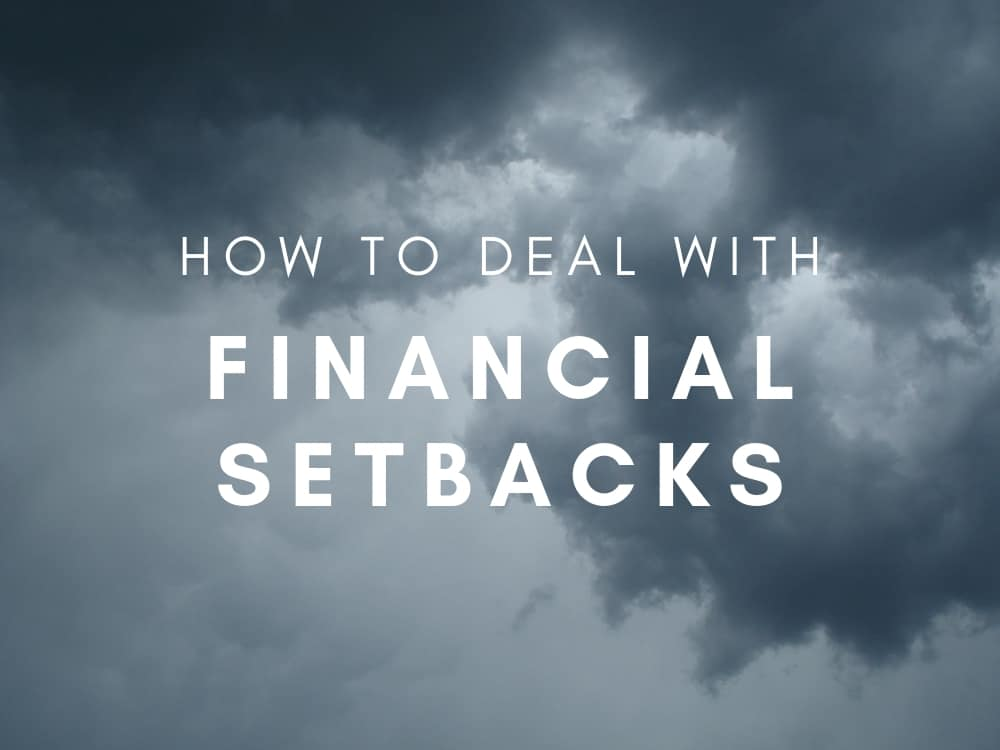 How to Deal With Financial Setbacks Graphic