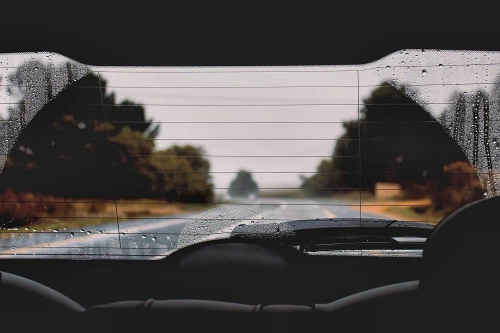 Looking Out the Rear Window of a Car