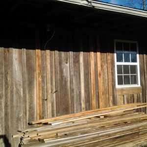 Cabin Update: Siding Progress + a Curb Find