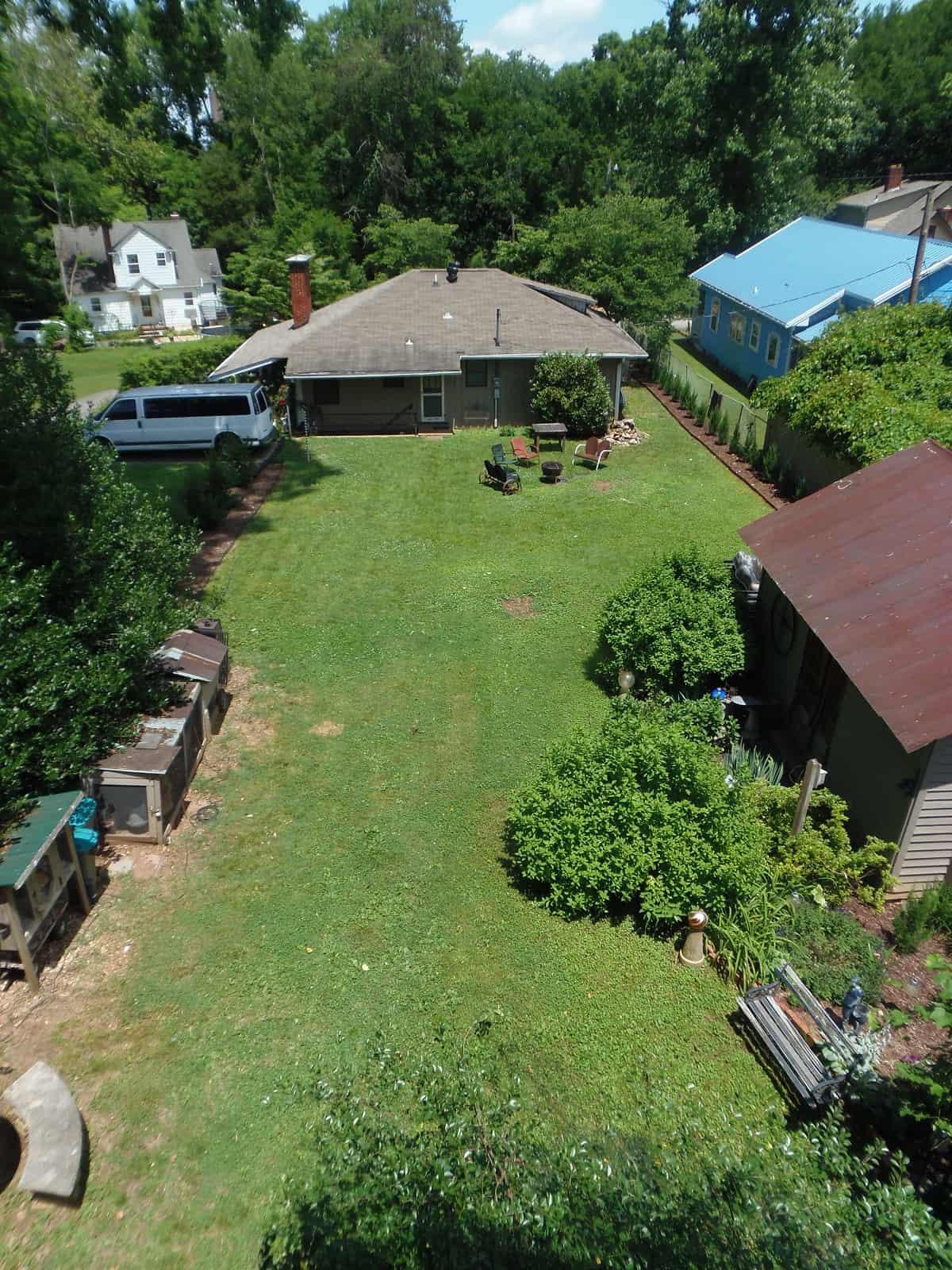 Aerial View of Backyard - June 2020