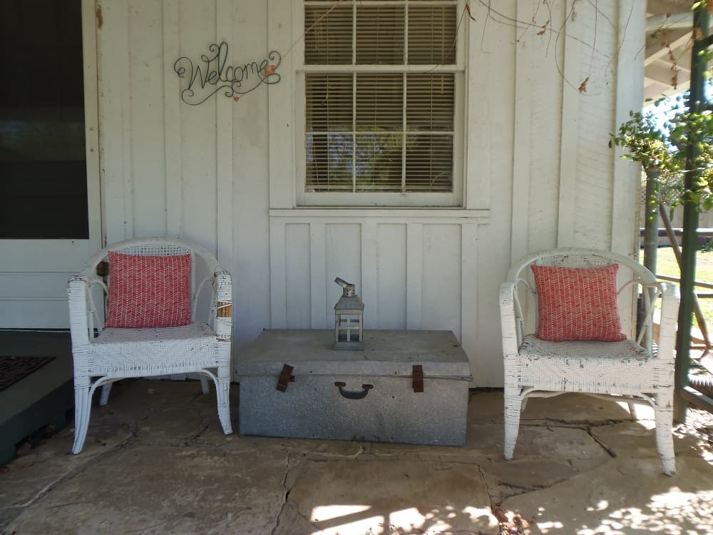 Seating Area on Side Porch 2019