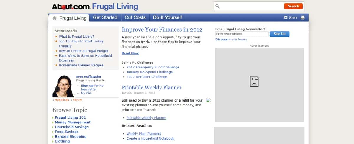 About Frugal Living Screen Shot