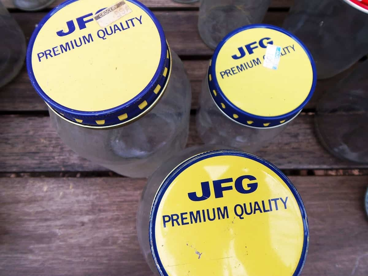 Vintage JFG Coffee Jars