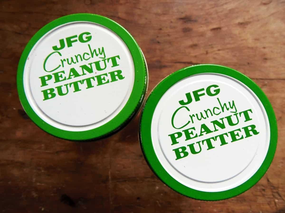 Vintage JFG Crunchy Peanut Butter
