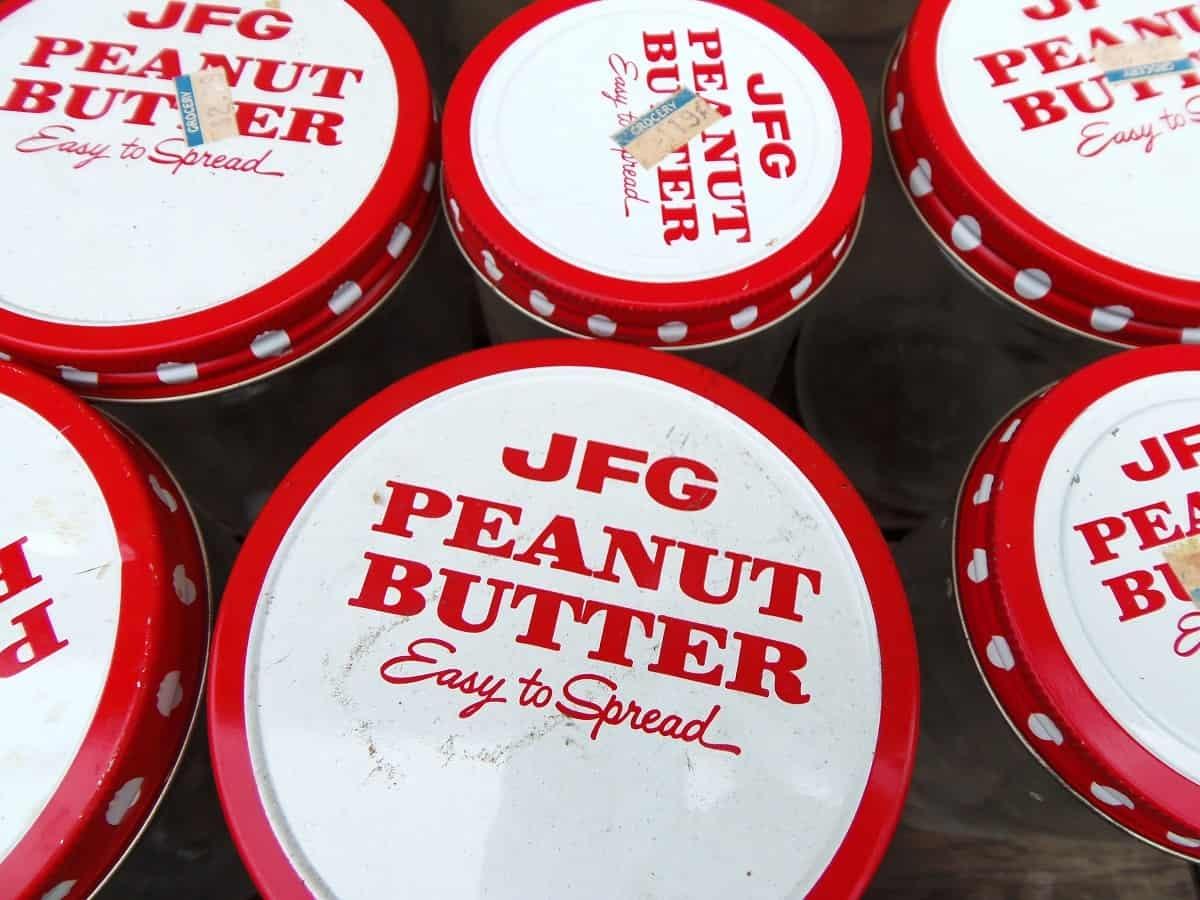 Vintage JFG Peanut Butter Jars