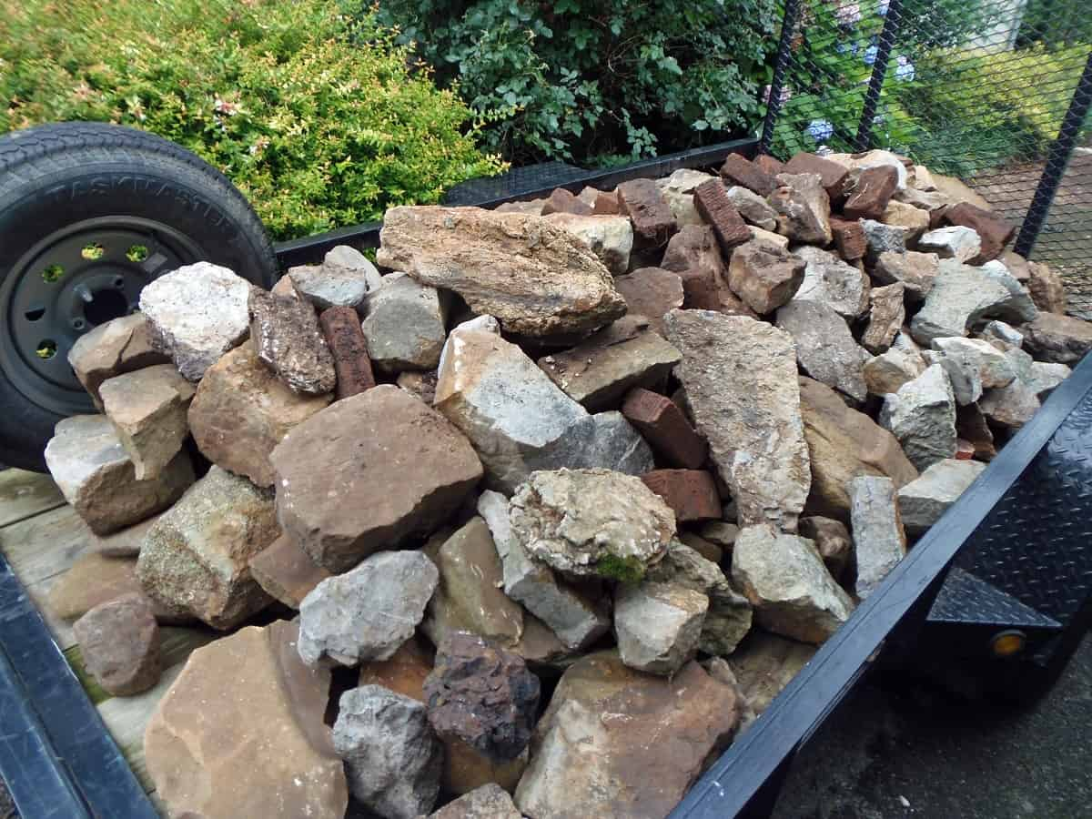 Trailer Load of Landscaping Rocks
