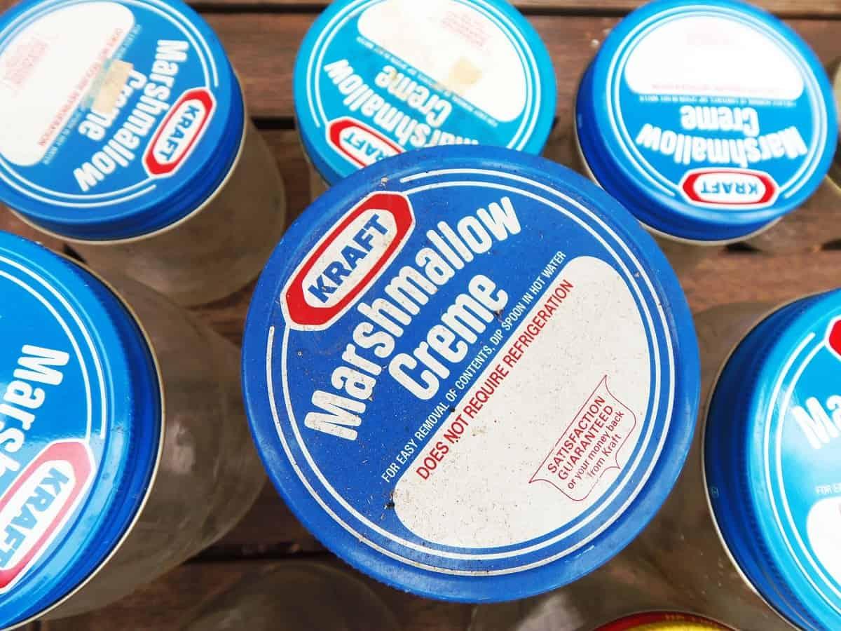 Vintage Kraft Marshmallow Fluff Jars