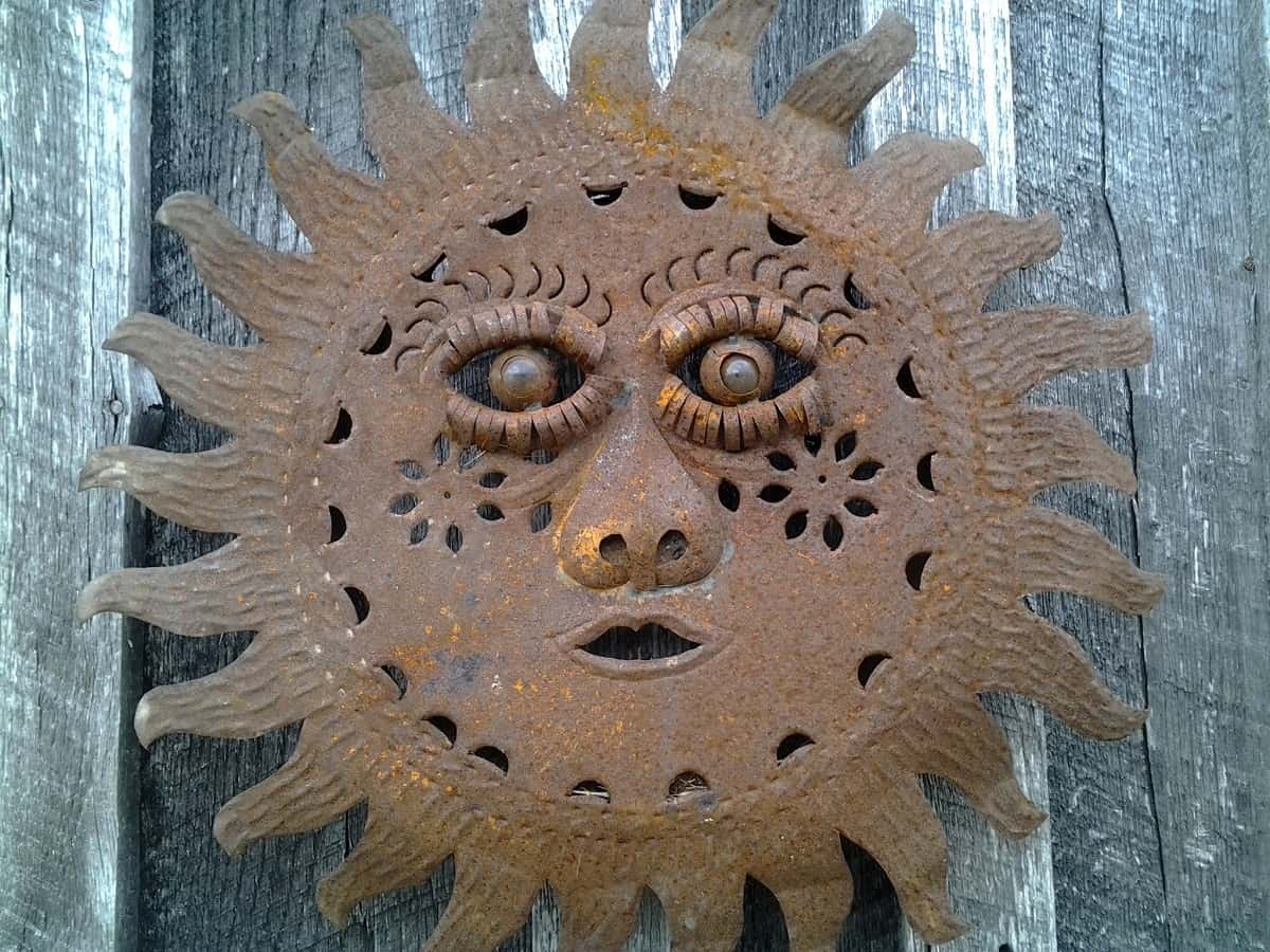 Rusted Sun Garden Art