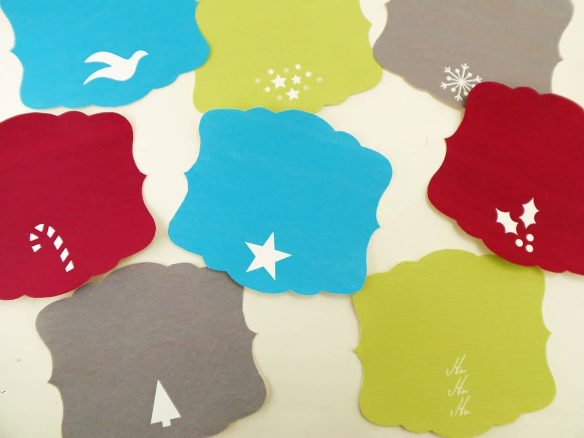 Printable Christmas Silhouette Bag Toppers