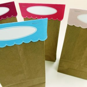 Fill in Oval Bag Toppers on Paper Bags