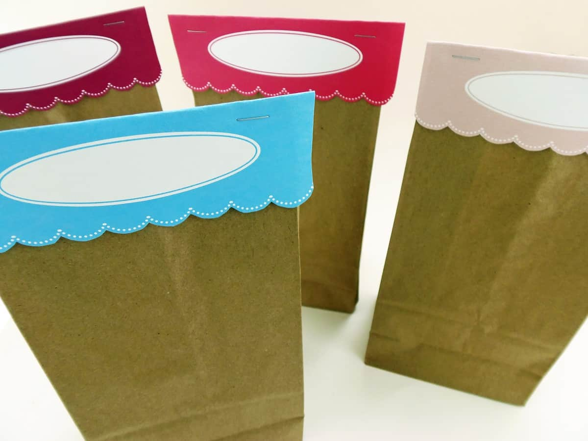 photo regarding Printable Paper Bags known as Printable Bag Toppers