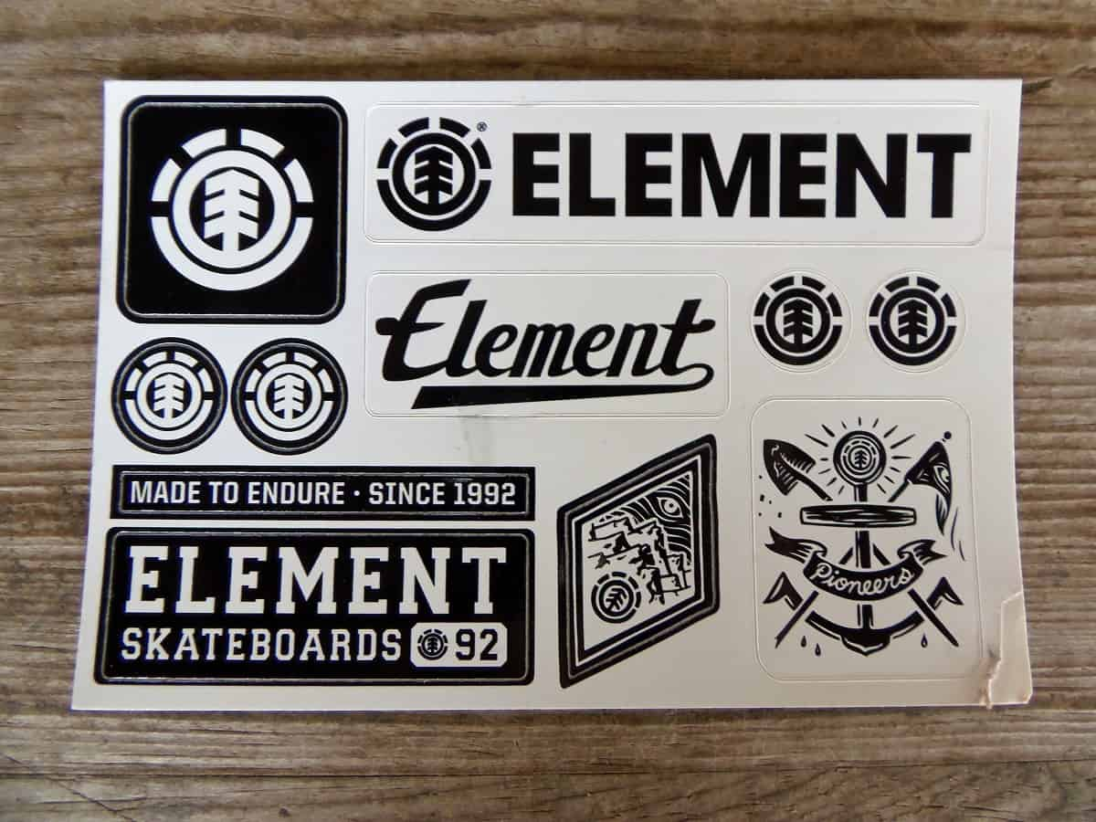 Free Sheet of Element Stickers