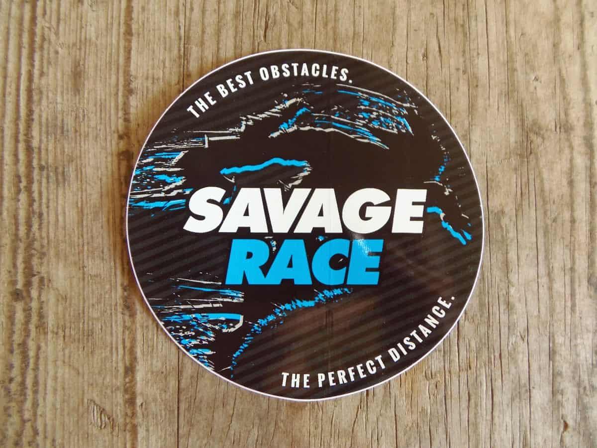 Free Savage Race Sticker