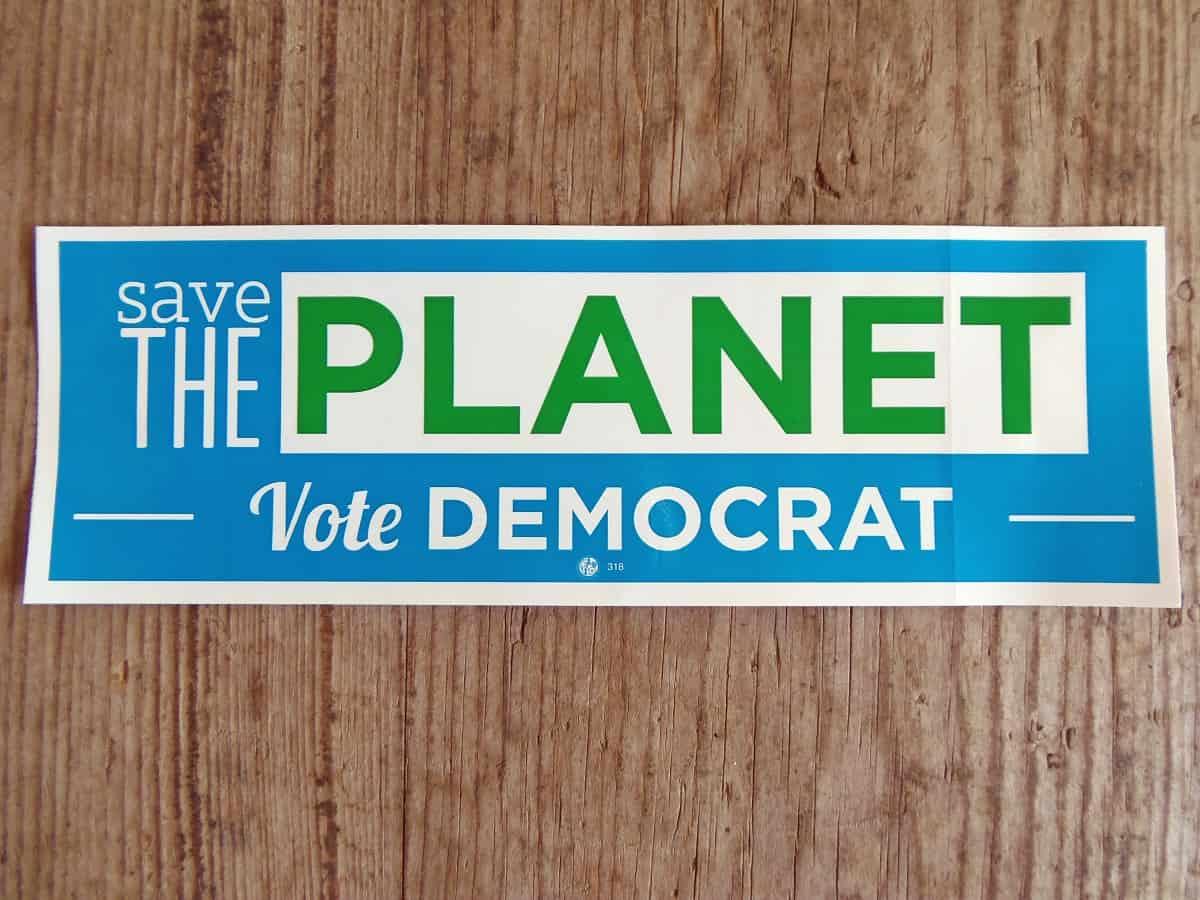 Free Save the Planet Vote Democrat Sticker