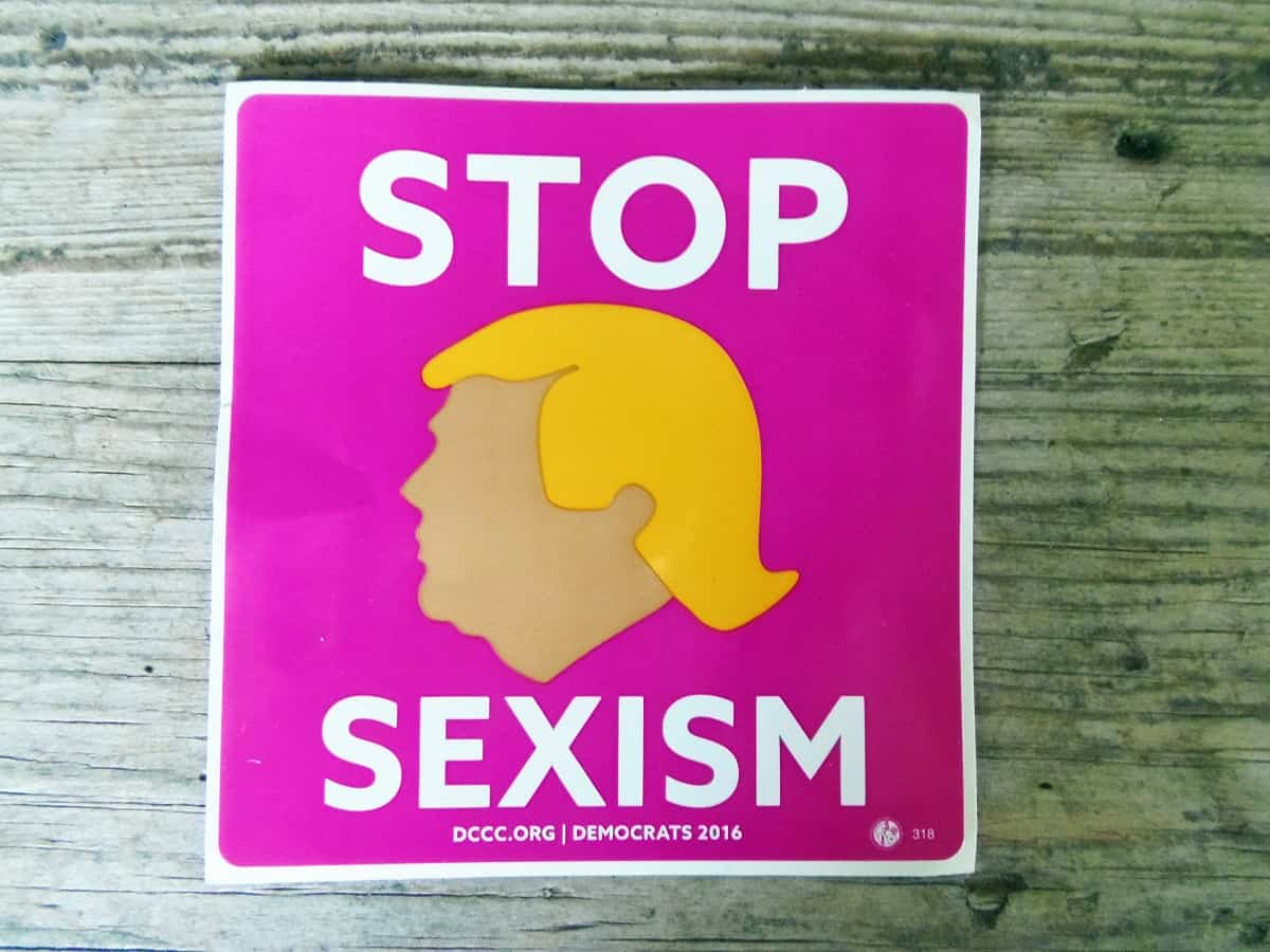 Free Stop Sexism Sticker From DCCC.org