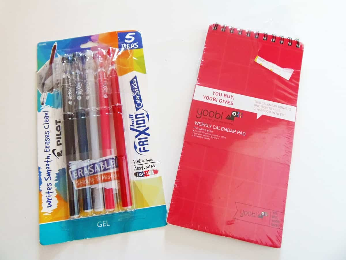 Erasable Pens and Planner
