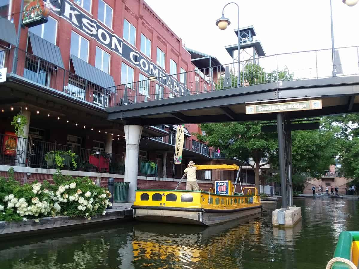 Bricktown Water Taxi in Canal
