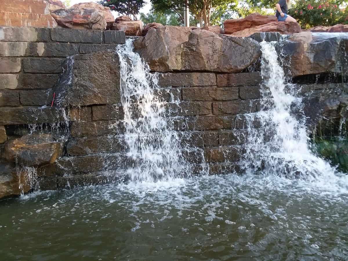 Waterfall Along Canal