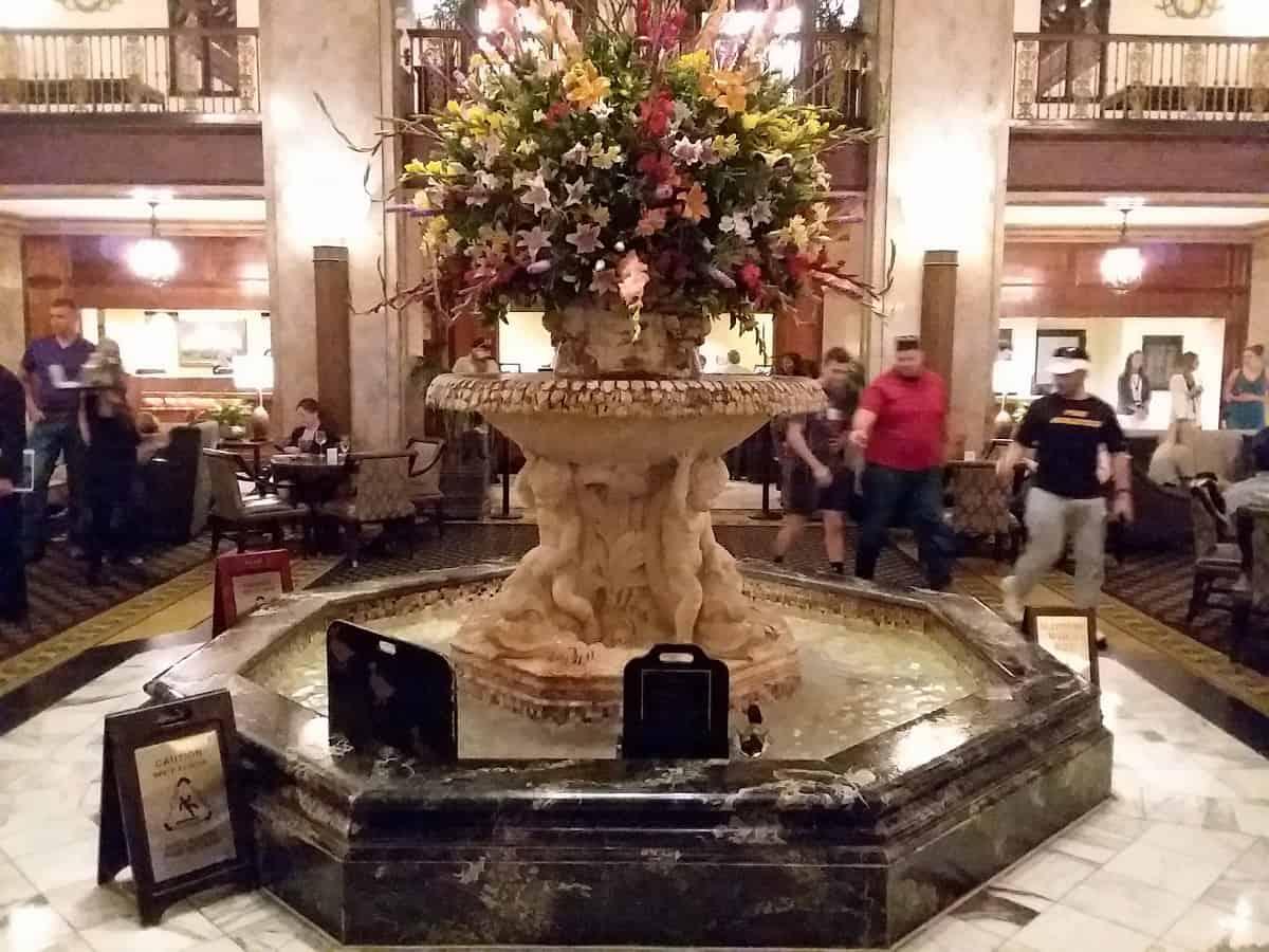 Fountain at Peabody Hotel