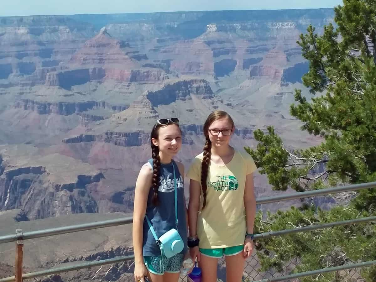 Girls With Grand Canyon Behind Them