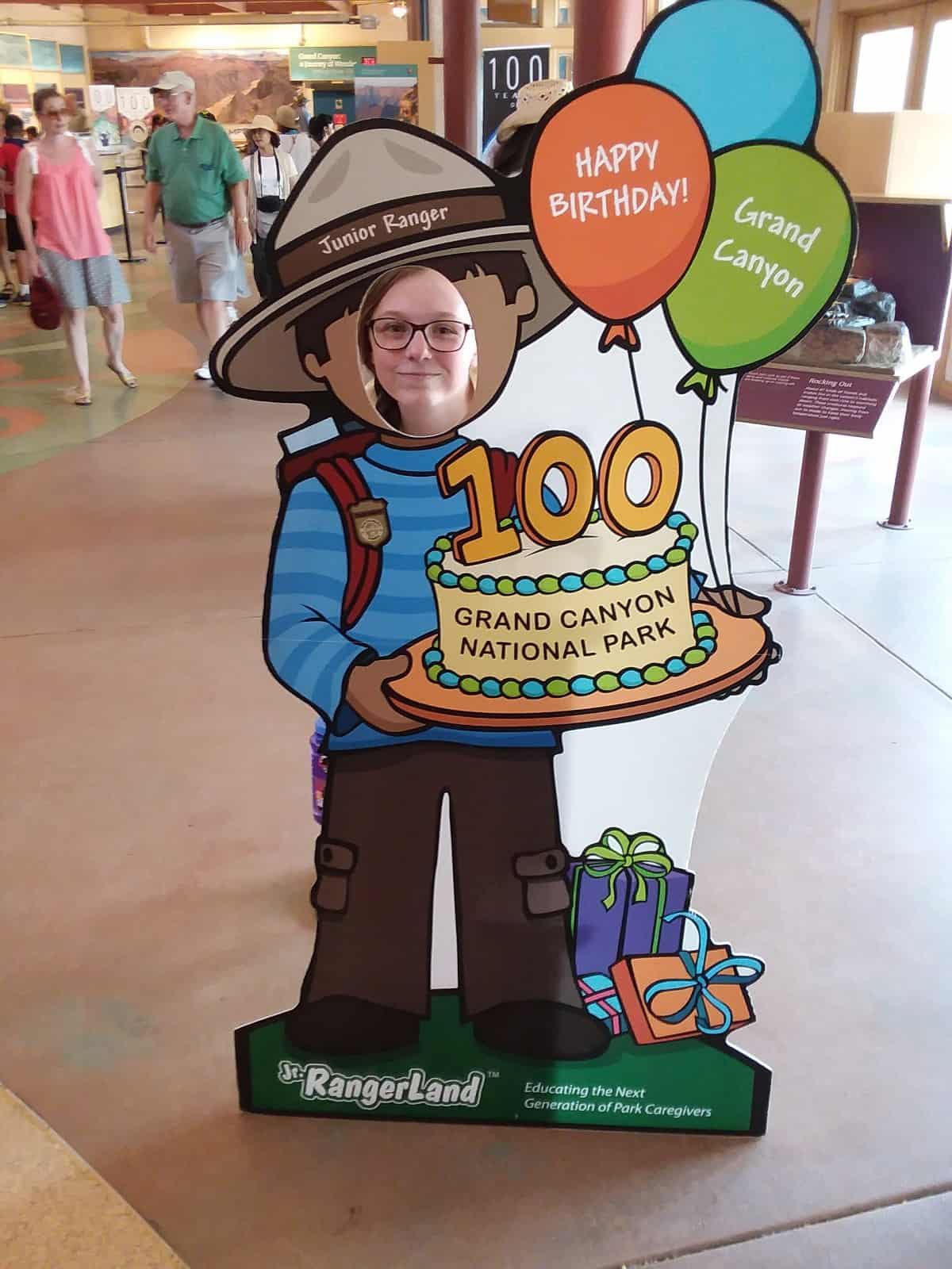 Grand Canyon 100th Birthday Cut Out