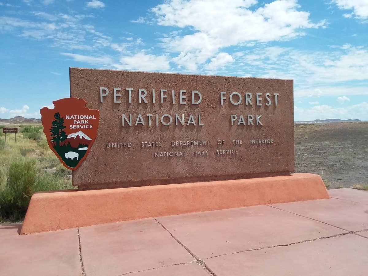 Petrified Forest National Park Sign