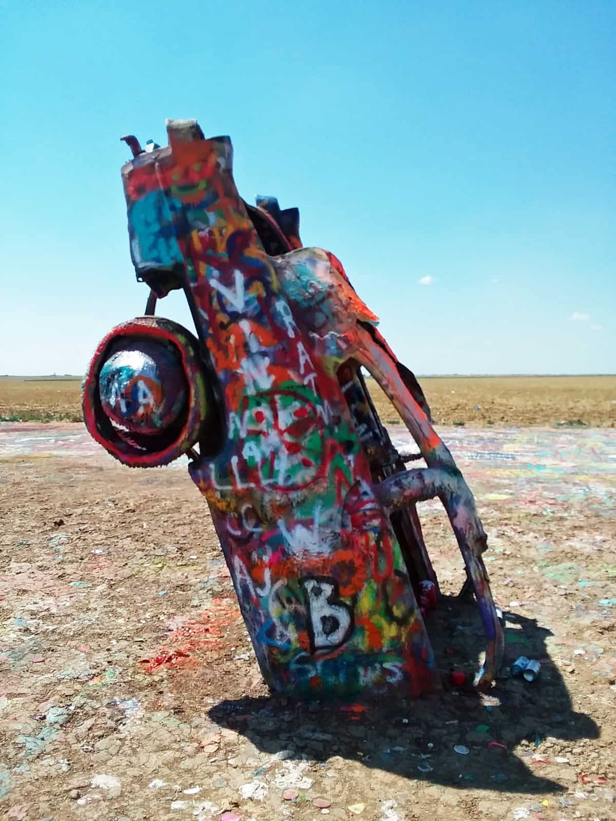 Side View of Cadillac Ranch