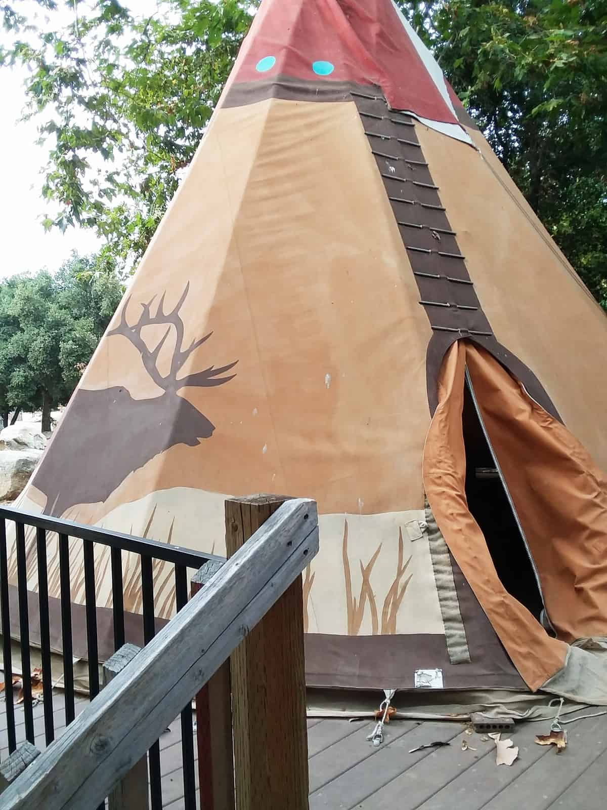 Teepee at Ventura Ranch KOA