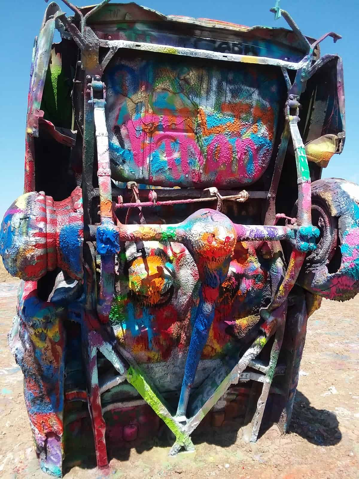 Undercarriage of Car at Cadillac Ranch