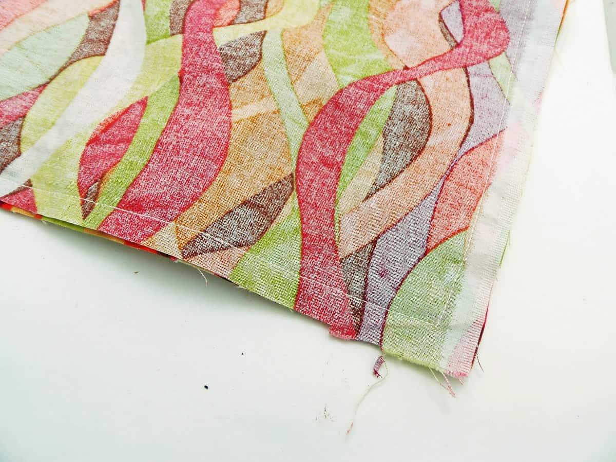 Sew a Half-Inch Seam Around Three Sides
