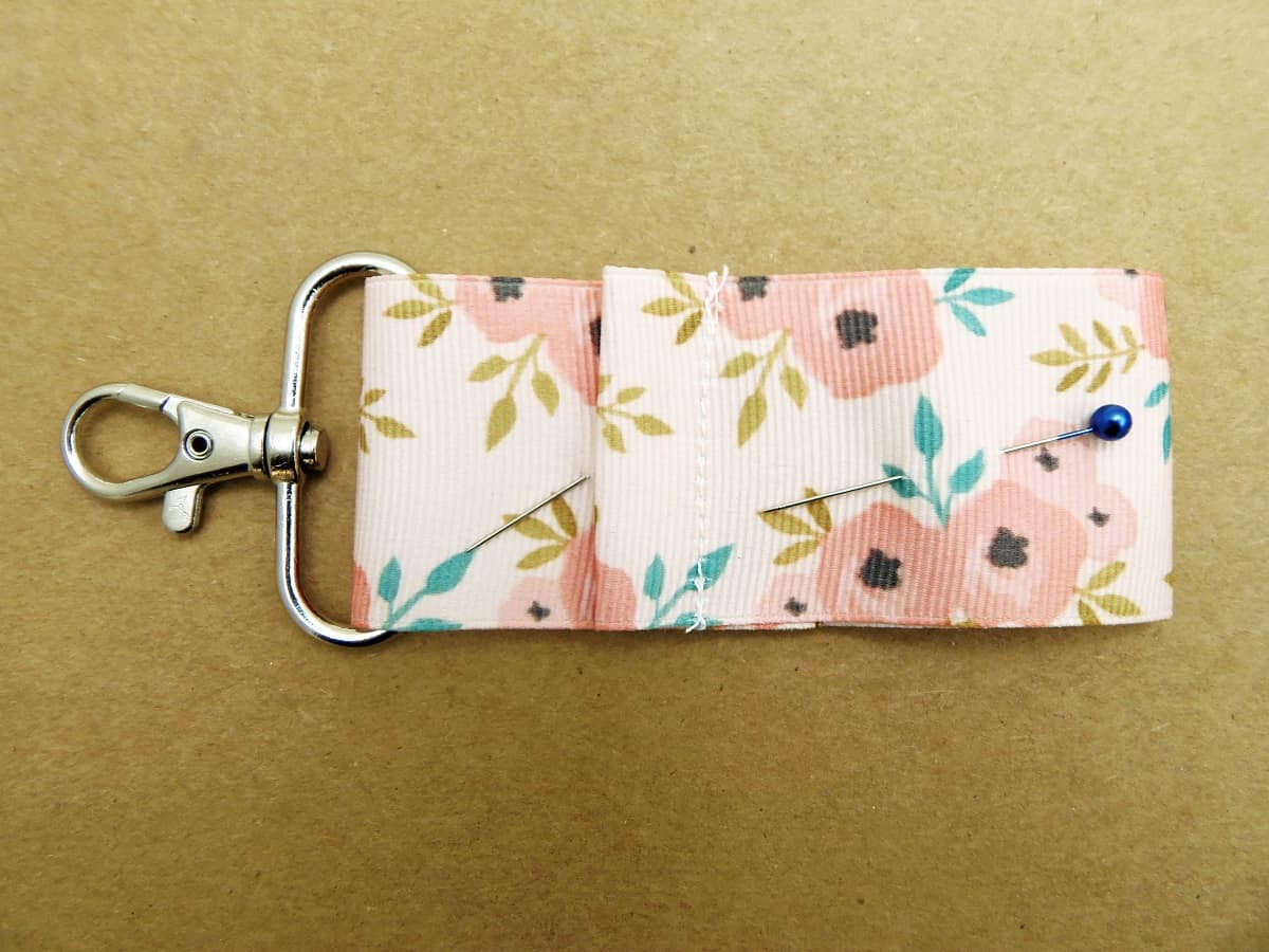Fold Bottom of Ribbon Up Two and Three-Quarters Inches and Pin