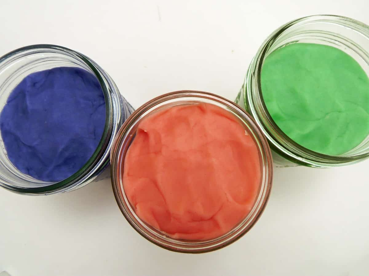 Jars of Homemade Aromatherapy Play Dough