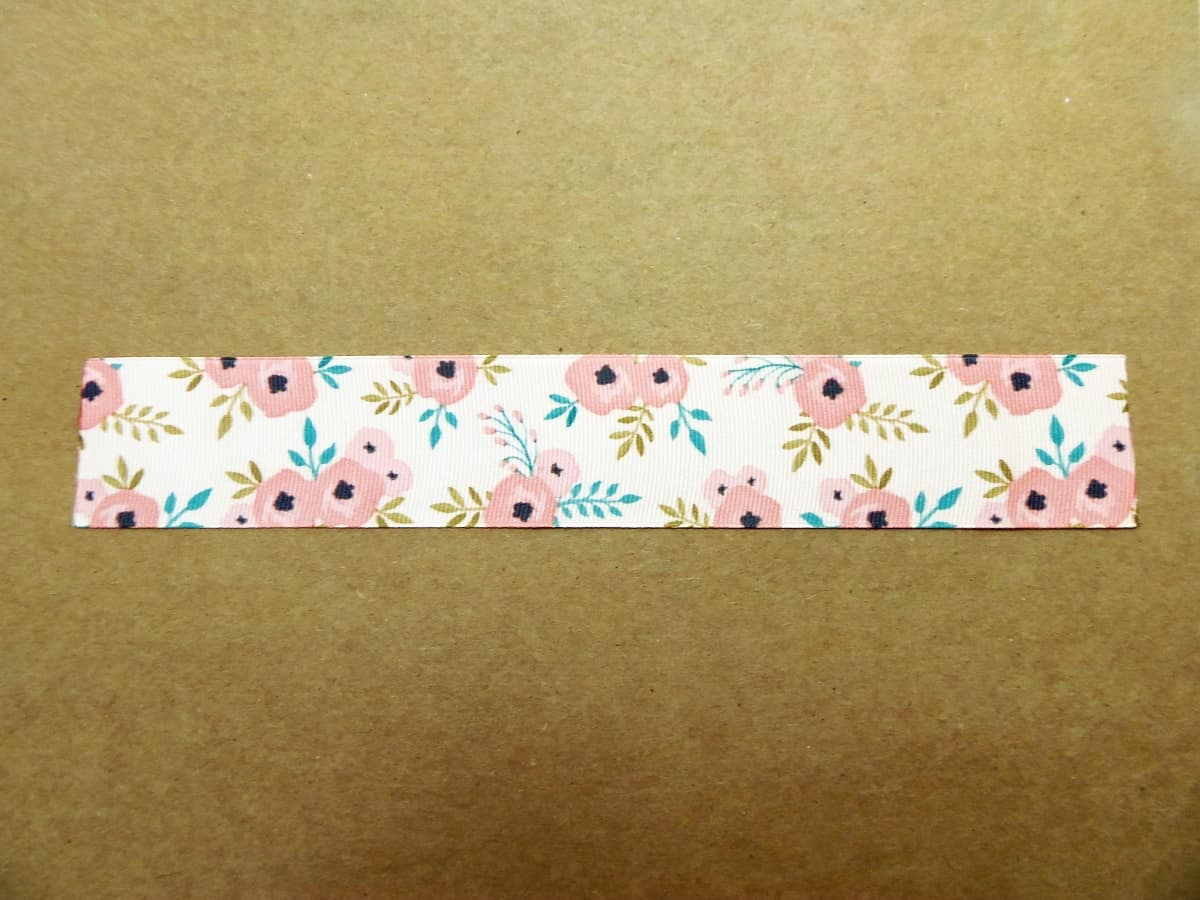 Nine-Inch Piece of Grosgrain Ribbon