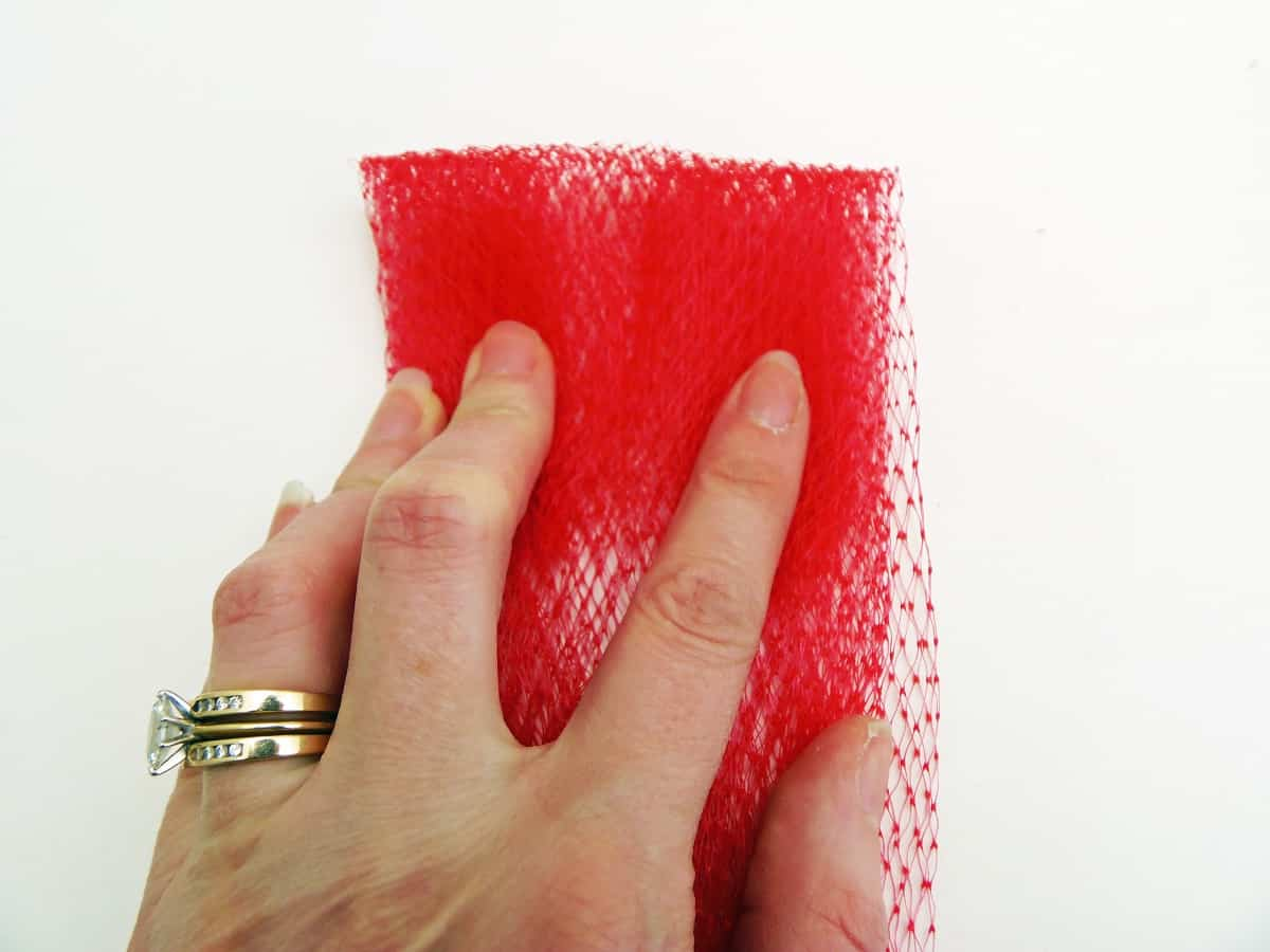 Fold Down the Top of the Mesh Bags