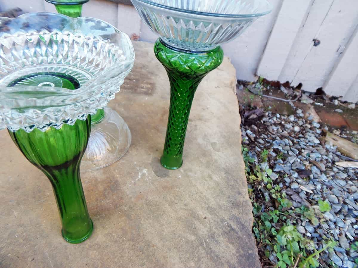 Glue Glassware Together to Create Waterer