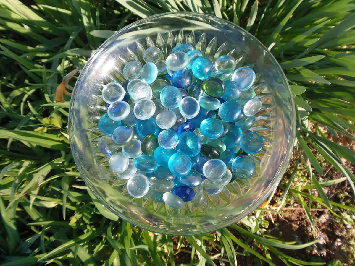 Bee and Butterfly Waterer Filled With Rocks