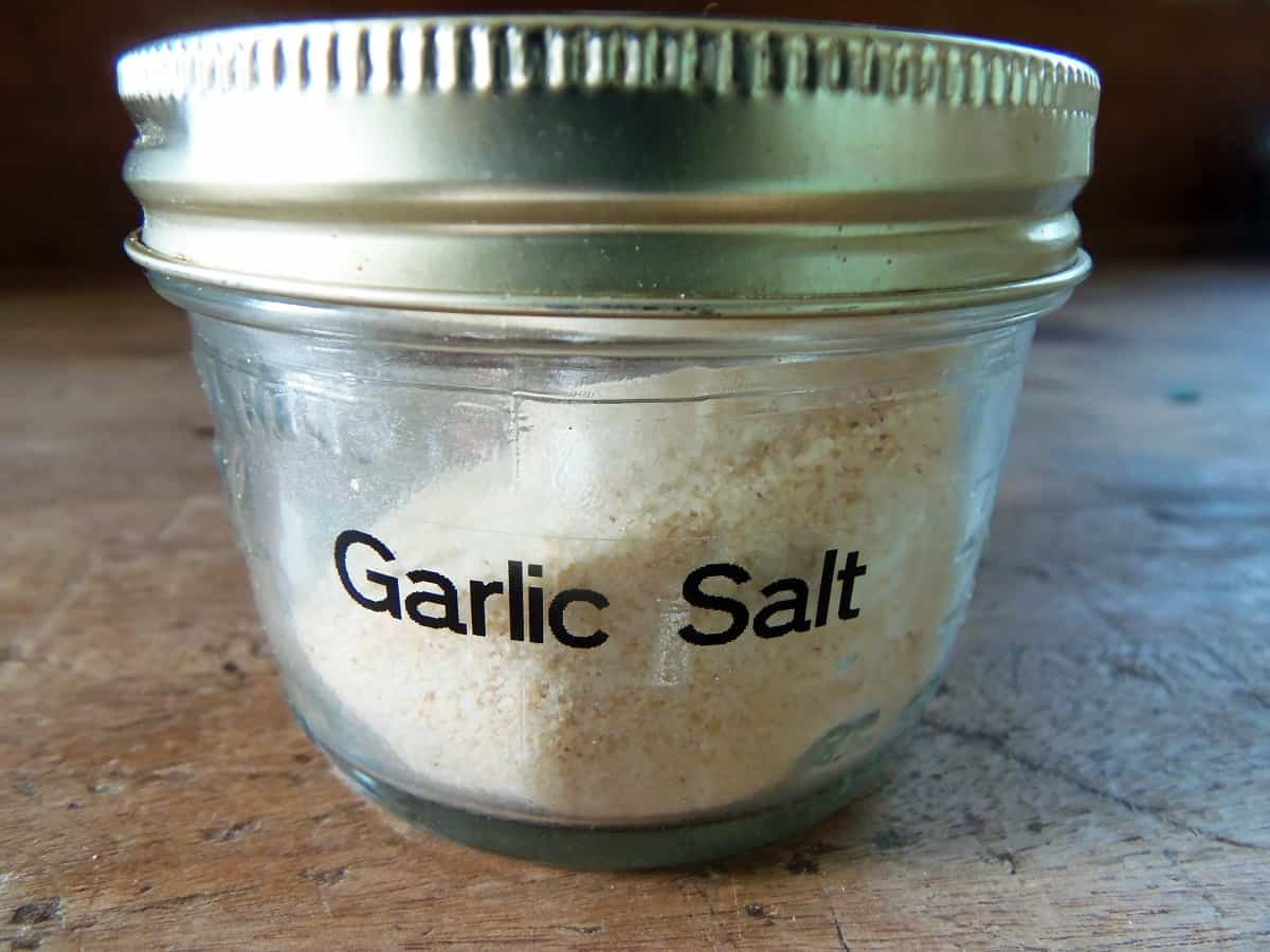 Jar of Homemade Garlic Salt