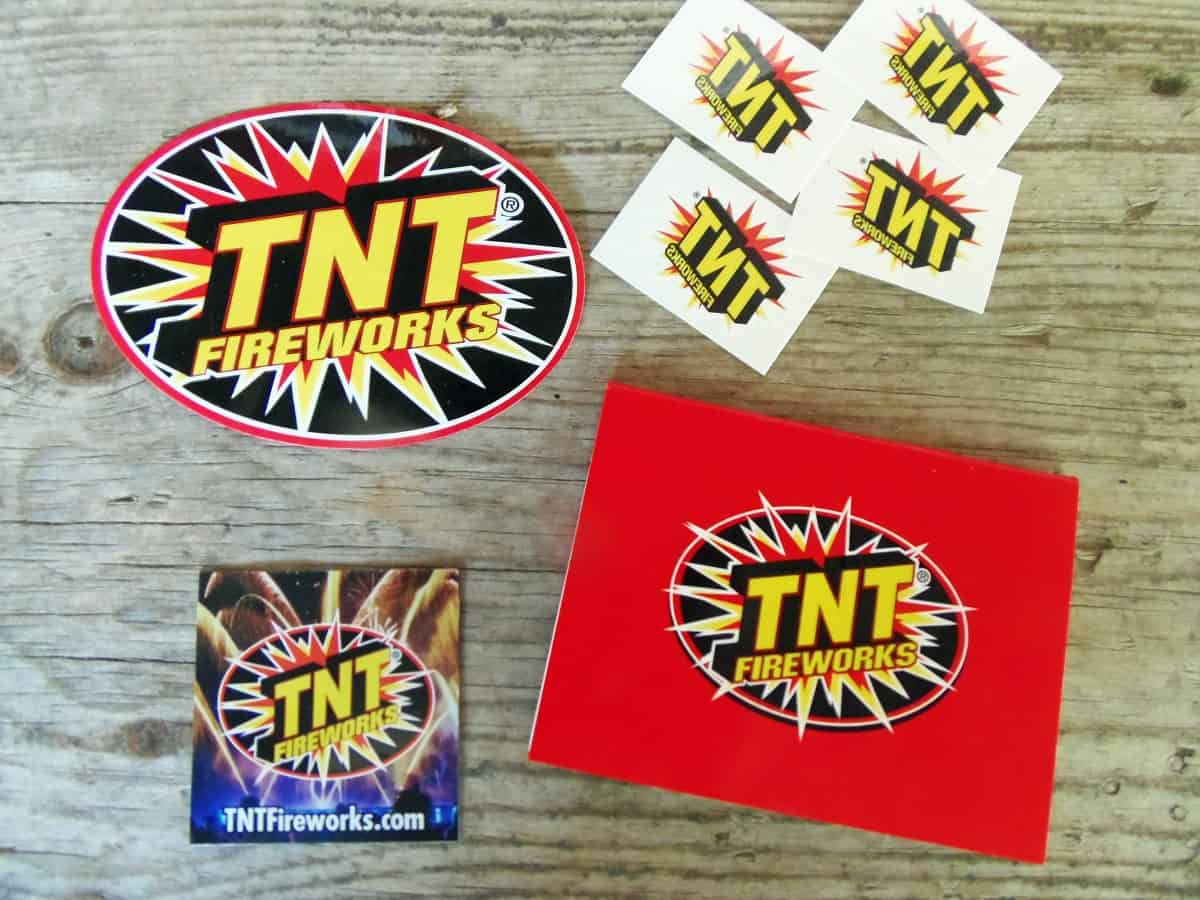 Free Stickers and Swag From TNT Fireworks