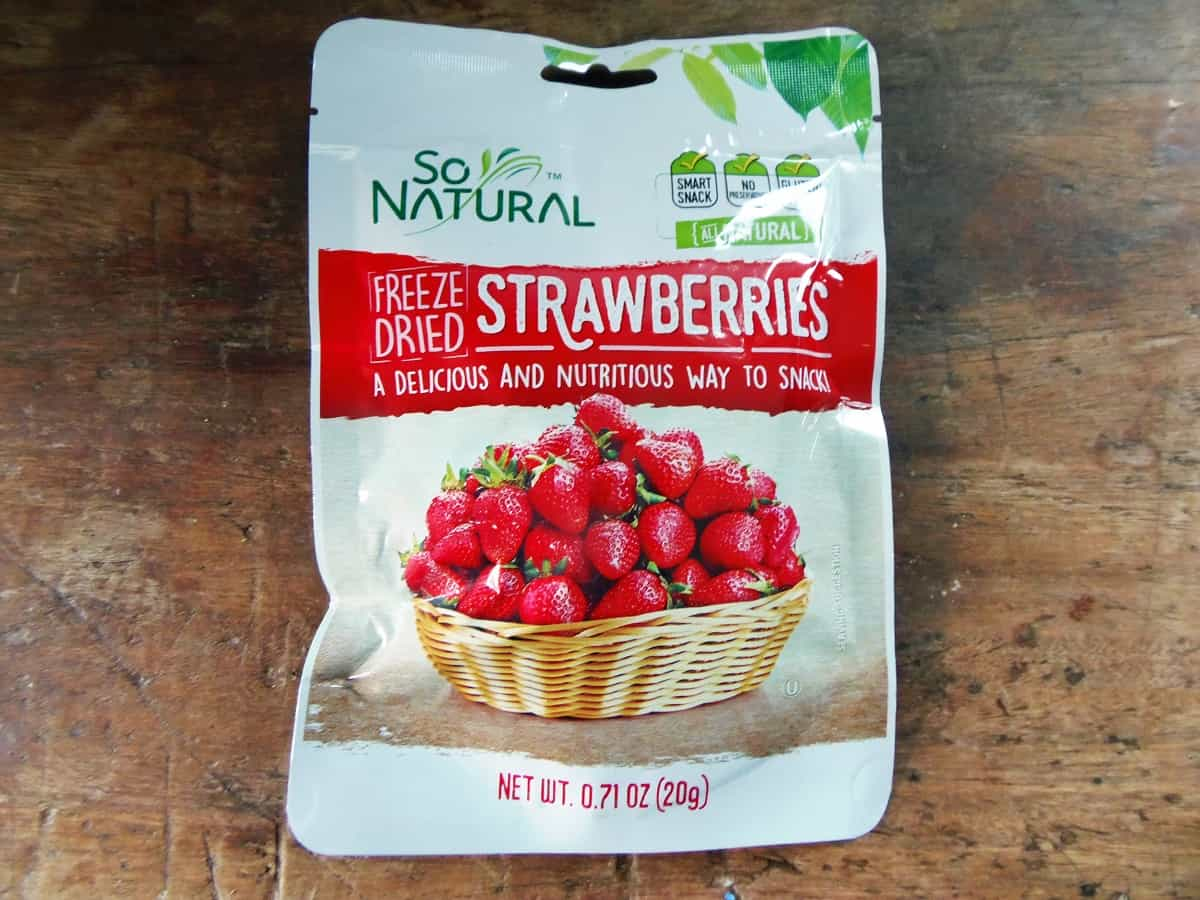 Bag of Freeze-Dried Strawberries
