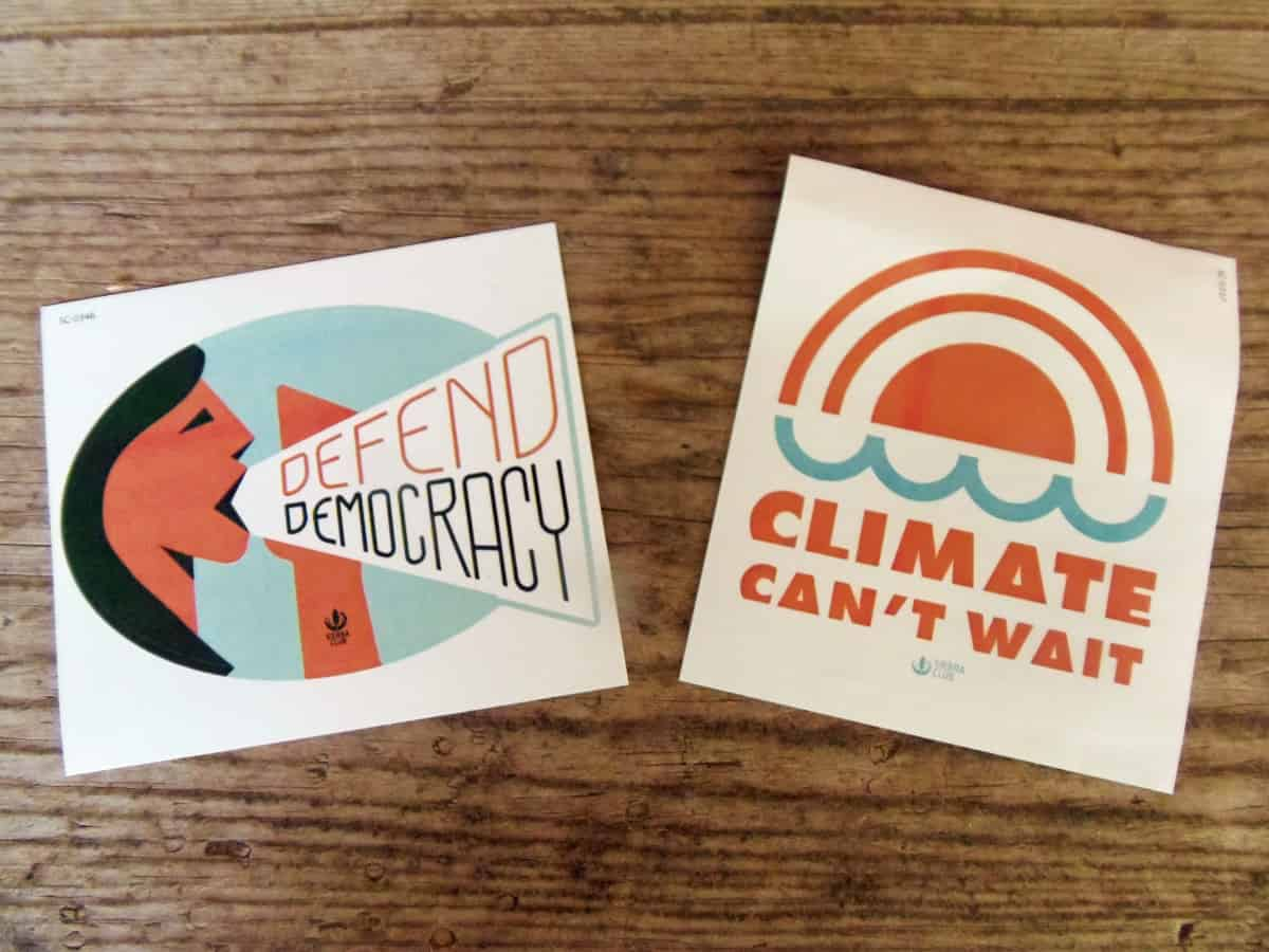 Free Stickers From Sierra Club